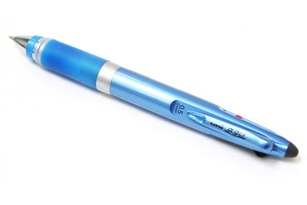 Uni Alpha Gel 2 Color 0.7 mm Ballpoint Multi Pen + 0.5 mm Pencil - Deep Blue Grip - UNI MSE1007GG1PD33