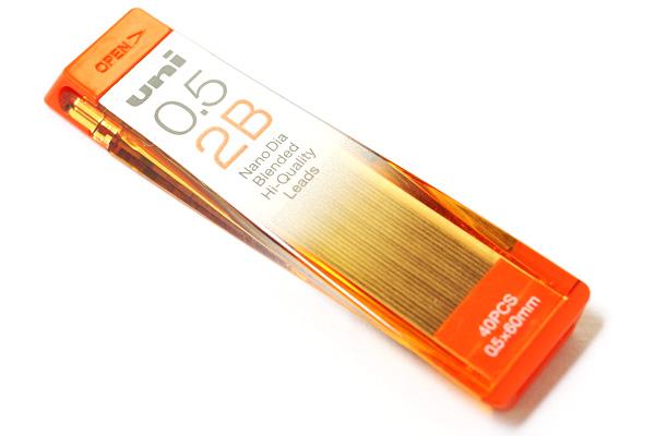Uni NanoDia Low-Wear Pencil Lead - 0.5 mm - 2B - UNI U05202ND2B