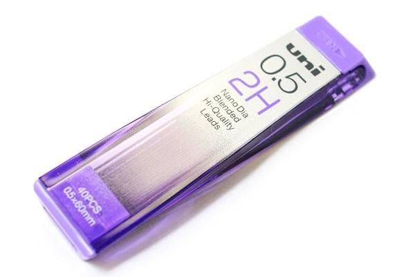 Uni NanoDia Low-Wear Pencil Lead - 0.5 mm - 2H - UNI U05202ND2H