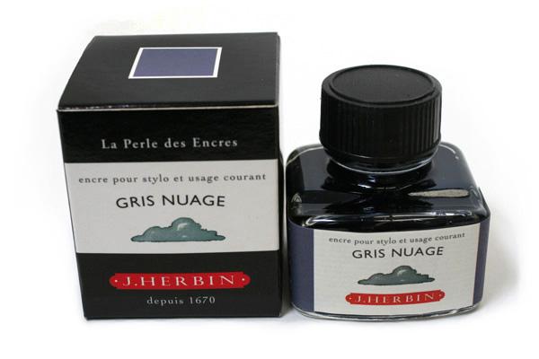 J. Herbin Fountain Pen Ink - 30 ml Bottle - Gris Nuage (Cloud Gray) - J. HERBIN H130/08