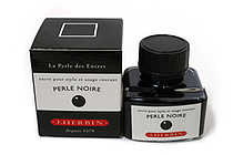 J. Herbin Fountain Pen Ink - 30 ml Bottle - Perle Noire (Pearl Black) - J. HERBIN H130/09
