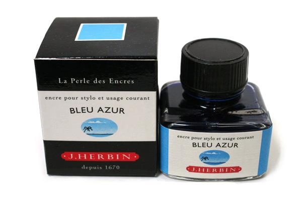 J. Herbin Fountain Pen Ink - 30 ml Bottle - Bleu Azur (Azure Blue) - J. HERBIN H130/12