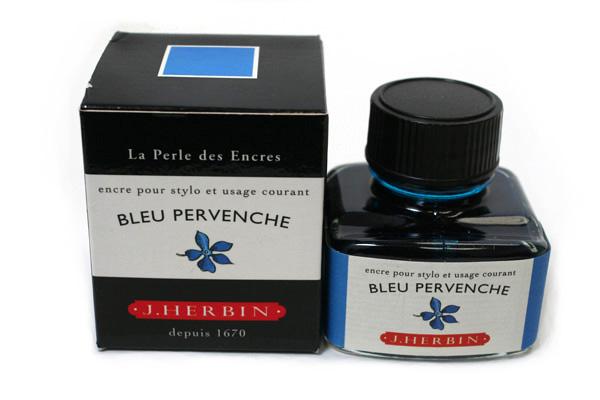 J. Herbin Fountain Pen Ink - 30 ml Bottle - Bleu Pervenche (Periwinkle Blue) - J. HERBIN H130/13