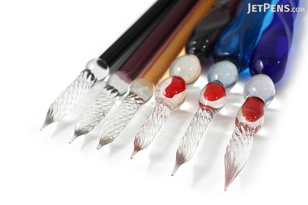 J. Herbin Tapered Body Frosted Glass Dip Pen - Large - Light Blue Tint - J. HERBIN H212/12