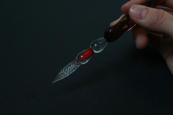 J. Herbin Tapered Body Frosted Glass Dip Pen - Large - Violet Tint - J. HERBIN H212/77
