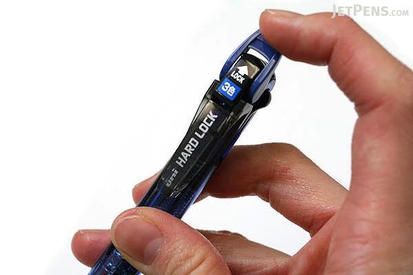 Uni Hard Lock 3 Color Ballpoint Multi Pen - 0.7 mm - Blue Body - UNI SE3350HL.33