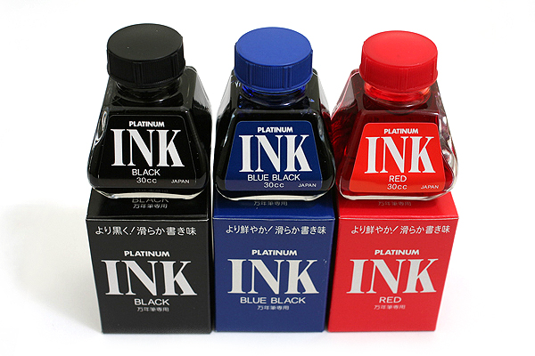 Platinum Fountain Pen Ink - 30 ml Bottle - Black - PLATINUM INK-400 1