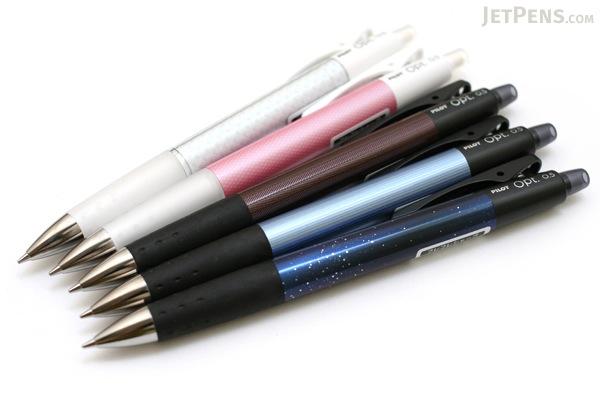 Pilot Opt Shaker Mechanical Pencil - 0.5 mm - Cut Glass White Body - PILOT HOP-20R-CG