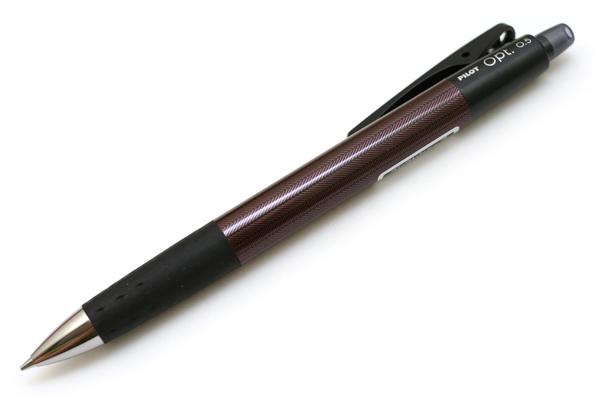 Pilot Opt Shaker Mechanical Pencil - 0.5 mm - Herringbone Gray Body - PILOT HOP-20R-HB