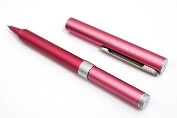 Ohto Tasche Ceramic Rollerball Pen - 0.5 mm - Pink Body - OHTO CB-10T PINK
