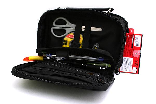 Kutsuwa Dr. Ion Super Mega Pencil Case - Black - KUTSUWA 169DRBK