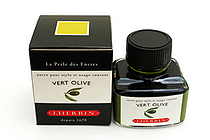 J. Herbin Fountain Pen Ink - 30 ml Bottle - Vert Olive (Olive Green) - J. HERBIN H130-36