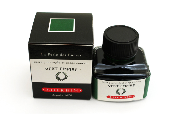 J. Herbin Fountain Pen Ink - 30 ml Bottle - Vert Empire (Empire Green) - J. HERBIN H130/39