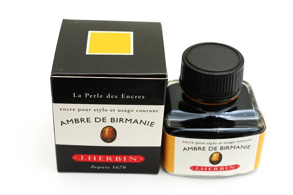 J. Herbin Fountain Pen Ink - 30 ml Bottle - Ambre de Birmanie (Amber Gold of Burma) - J. HERBIN H130/41