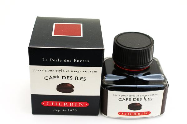 J. Herbin Fountain Pen Ink - 30 ml Bottle - Café des Îles (Island Coffee Brown) - J. HERBIN H130/46