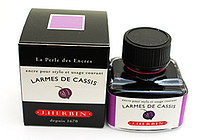 J. Herbin Fountain Pen Ink - 30 ml Bottle - Larmes de Cassis (Tears of Black Currant Purple) - J. HERBIN H130/78