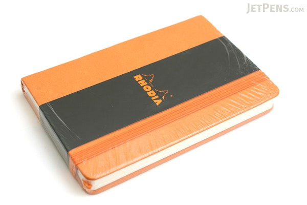 "Rhodia Webnotebook - 3.5"" X 5.5"" - 96 Sheets - Lined - Orange - Bundle of 2 - RHODIA 118068 BUNDLE"
