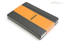 "Rhodia Webnotebook - 3.5"" x 5.5"" - Lined - Black - RHODIA 118069"
