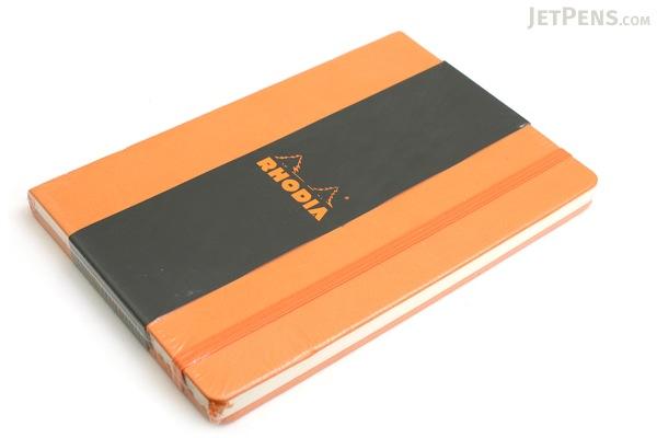 "Rhodia Webnotebook - 5.5"" X 8.25"" - 96 Sheets - Lined - Orange - Bundle of 2 - RHODIA 118608 BUNDLE"