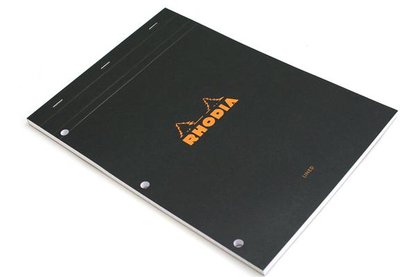 Rhodia Pad No. 18 - A4 - 3 Holes - Black - RHODIA 186009
