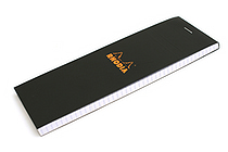 "Rhodia Pad No. 08 - 2.9"" x 8.3"" - Graph - Black - RHODIA 82009"