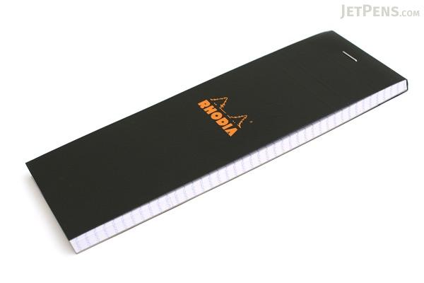 "Rhodia Pad No. 08 - Black - 2.9"" x 8.3"" - Graph - Bundle of 10 - RHODIA 82009 BUNDLE"