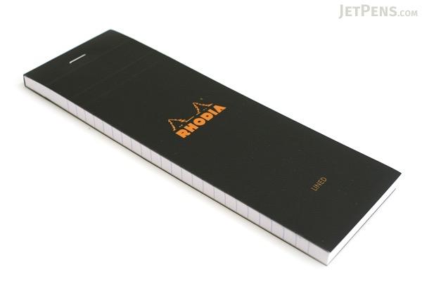 "Rhodia Pad No. 08 - 2.9"" x 8.3"" - Lined - Black - RHODIA 86009"
