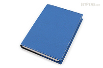 "Exacompta Club Leatherette Refillable Journal - Blue - 5"" X 7"" - 192 Sheets - Lined/Undated - EXACOMPTA 1818/4"