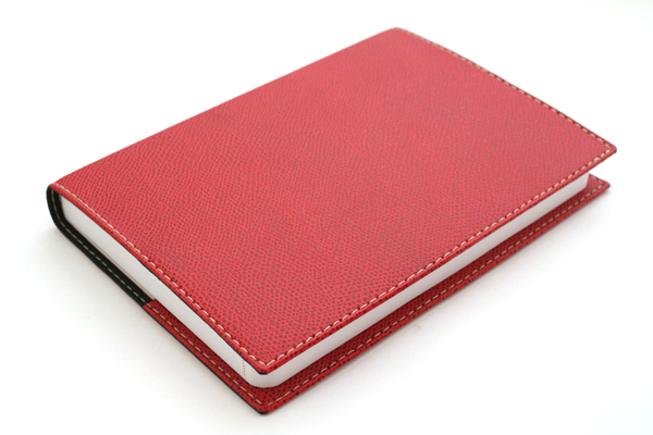 "Exacompta Club Leatherette Refillable Journal - Cherry Red Cover - 5"" X 7"" - 192 Sheets - Lined/Undated - EXACOMPTA 1818-5"