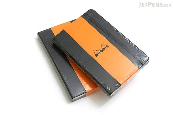 "Rhodia Webnotebook - 3.5"" X 5.5"" - 96 Sheets - Lined - Black - Bundle of 2 - RHODIA 118069 BUNDLE"