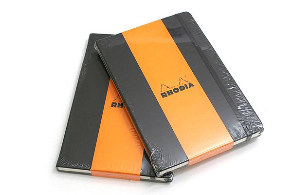"Rhodia Webnotebook - 5.5"" X 8.25"" - 96 Sheets - Lined - Black - Bundle of 2 - RHODIA 118609 BUNDLE"