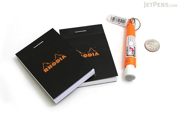 "Rhodia Pad No. 10 - 2"" x 2.9"" - Lined - Black - RHODIA 106009"