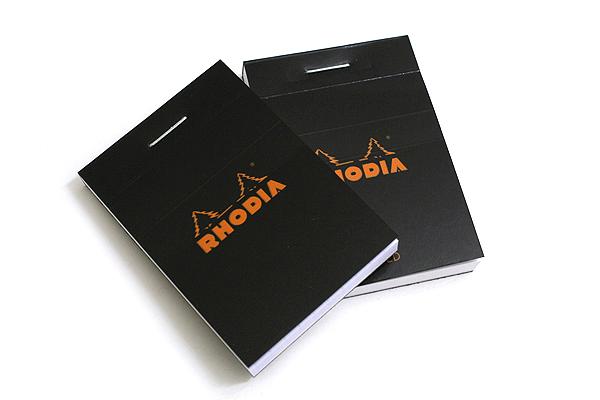 """Rhodia Pad No. 10 - 2"""" x 2.9"""" - Black - Graph - RHODIA 102009"""