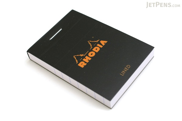 "Rhodia Pad No. 10 - 2"" x 2.9"" - Lined - Black - RHODIA 106009"