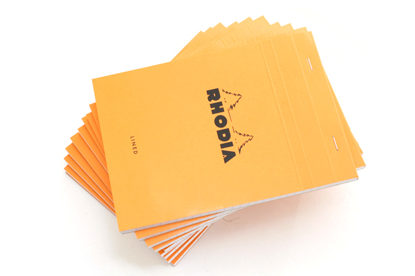 "Rhodia Pad No. 16 - Orange - 5.8"" x 8.3"""" - Lined + Margin - Bundle of 10 - RHODIA 16600 BUNDLE"
