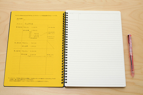 """Maruman Mnemosyne Special Memo Notepad - B5 (6.9"""" X 9.8"""") - 7 mm Rule + Divisions - 30 Lines X 80 Sheets - Pack of 5 - MARUMAN N194 BUNDLE"""