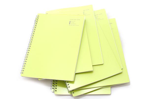 "Maruman Note de Note Notebook - B5 (6.9"" X 9.8"") - 7 mm Rule - 31 Lines X 30 Sheets - Green - Pack of 10 - MARUMAN N266-03 BUNDLE"
