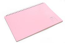 "Maruman Note de Note Notebook - B5 (6.9"" X 9.8"") - 7 mm Rule - 31 Lines X 30 Sheets - Pink - MARUMAN N266-08"