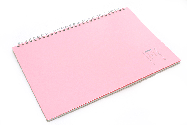 "Maruman Note de Note Notebook - B5 (6.9"" X 9.8"") - 7 mm Rule - 31 Lines X 30 Sheets - Pink - MARUMAN N266-08"