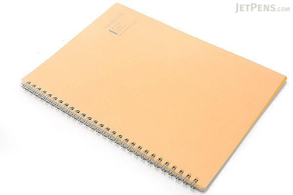 "Maruman Note de Note Notebook - B5 (6.9"" X 9.8"") - 7 mm Rule - 31 Lines X 30 Sheets - Orange - MARUMAN N266-09"