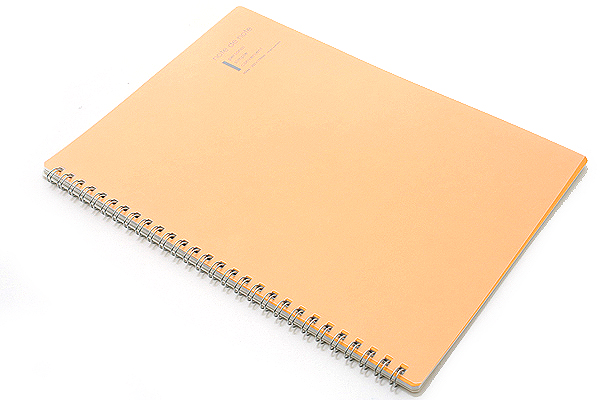 "Maruman Note de Note Notebook - B5 (6.9"" X 9.8"") - 7 mm Rule - 31 Lines X 30 Sheets - Orange - MARUMAN N266-09"
