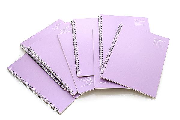 """Maruman Note de Note Notebook - B5 (6.9"""" X 9.8"""") - 7 mm Rule - 31 Lines X 30 Sheets - Purple - Pack of 10 - MARUMAN N266-10 BUNDLE"""