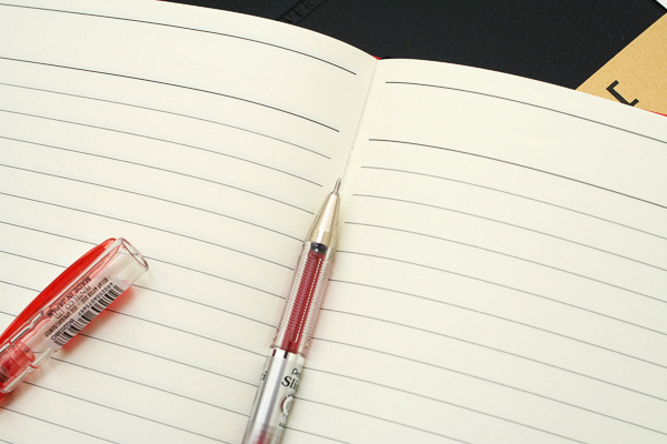 """Maruman Cover Note Refillable Notebook - B6 (4.9"""" X 6.9"""") - 7 mm Rule - 21 Lines X 96 Sheets - Red - MARUMAN N432-01"""