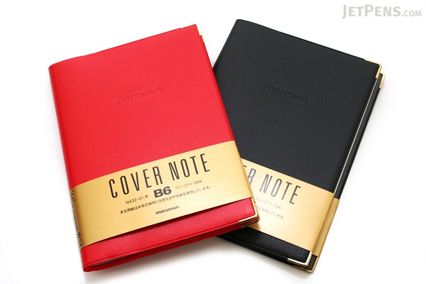 "Maruman Cover Note Refillable Notebook - B6 (4.9"" X 6.9"") - 7 mm Rule - 21 Lines X 96 Sheets - Black - MARUMAN N432-05"