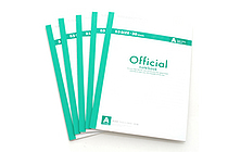 Apica Official Notepad - B5 - 7 mm Rule - 30 Lines X 30 Sheets - Green Accents - Pack of 5 - APICA 6A3FX5