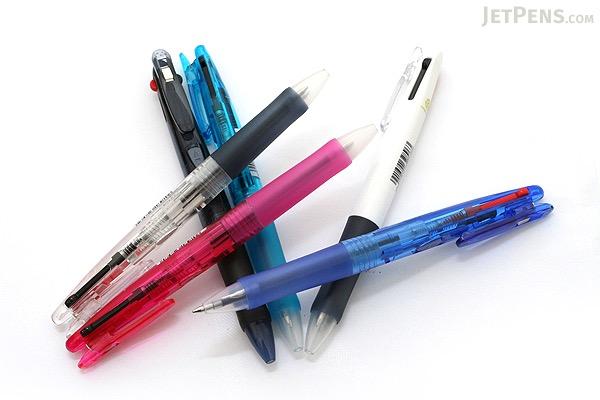 Zebra Clip-On G Series 2 Color Ballpoint Multi Pen -  0.7 mm - Clear Body - ZEBRA B2A3-C