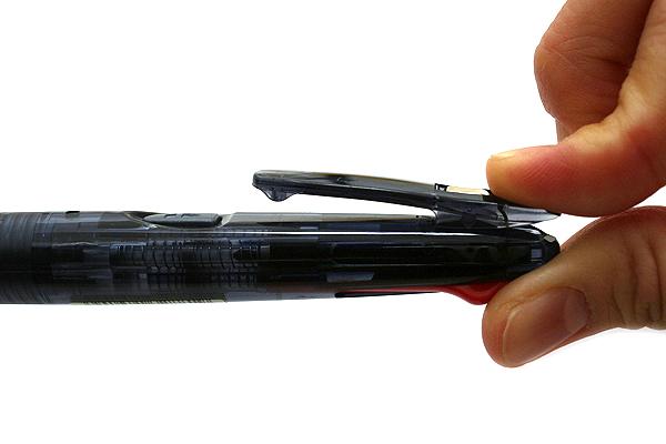 Zebra Clip-On G Series 4 Color Ballpoint Multi Pen - 0.7 mm - Black Body - ZEBRA B4A3-BK
