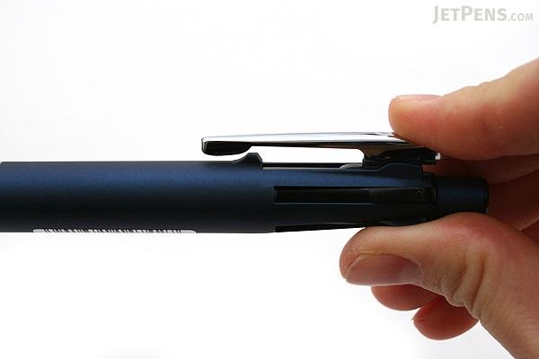 Zebra Clip-On Multi 2000 4 Color 0.7 mm Ballpoint Multi Pen + 0.5 mm Pencil - Blue Body  - ZEBRA B4SA4-BL