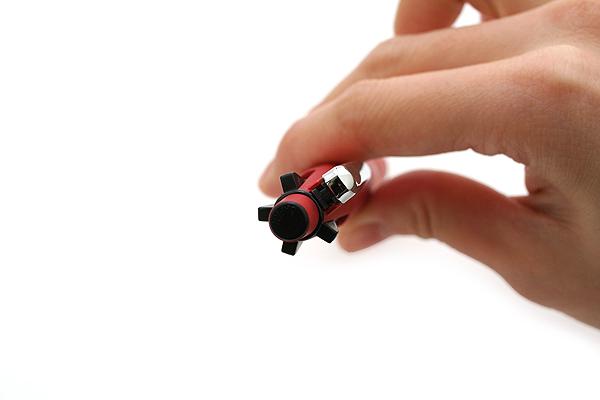 Zebra Clip-On Multi 2000 4 Color 0.7 mm Ballpoint Multi Pen + 0.5 mm Pencil - Red Body  - ZEBRA B4SA4-R