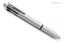Zebra Clip-On Multi 2000 4 Color 0.7 mm Ballpoint Multi Pen + 0.5 mm Pencil - Silver Body  - ZEBRA B4SA4-S